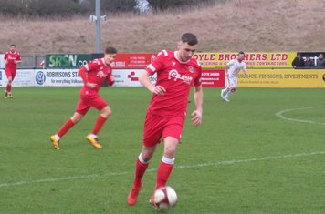 Jordon Cooke in action for Stamford.