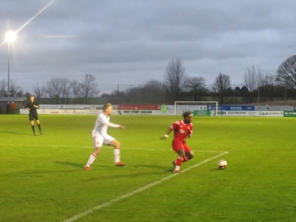 Cosmas Matwasa on the ball.