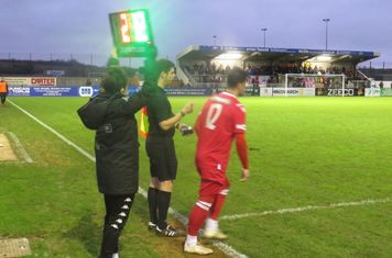 Jon Challinor coming on for Michael Armstrong.