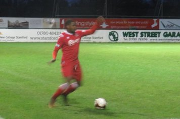 Pearson Mwanyongo in action for Stamford.
