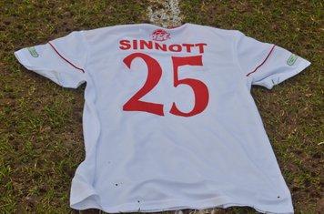 A shirt in memory of Jordan Sinnott.