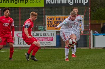 Sam Tingle in action for Lincoln United.