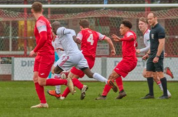Jamie Hands in action for Market Drayton Town.
