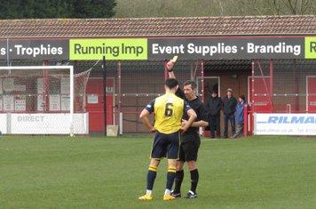 Michael Hollingworth's yellow card.