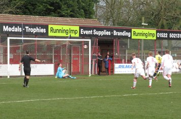 Jonathan Margetts' first goal from a penalty.