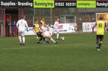 Michael Jacklin making a tackle.