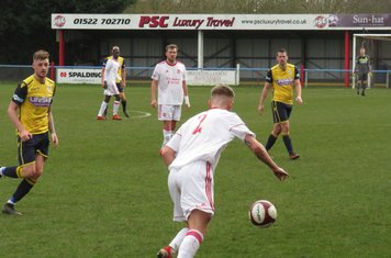 Jack Turnbull in action for Lincoln United.