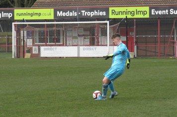 Tiernan Brooks taking a free kick.