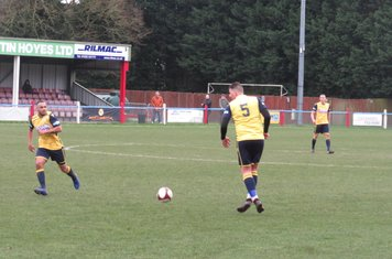 Liam Hughes in action for Frickley Athletic.