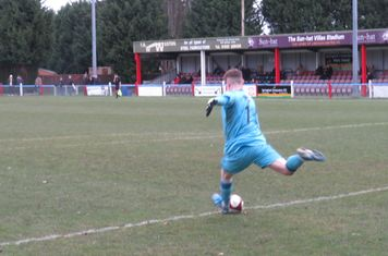 Tiernan Brooks taking a goal kick.