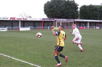 Tyler Williams in action for Frickley Athletic.