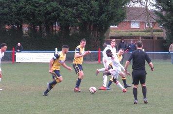 Cristovao Pissi in action for Lincoln United.
