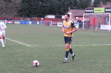 Dylan Cogill in action late on.
