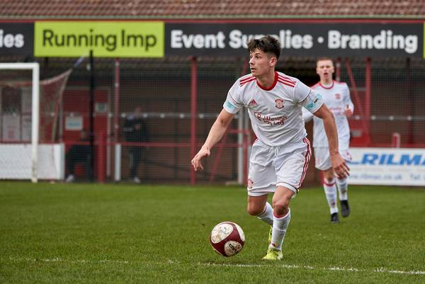 Jack Boswell with time on the ball.