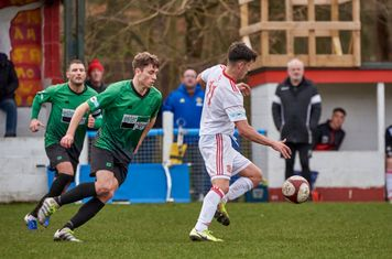 Jack Boswell in action for Lincoln United.