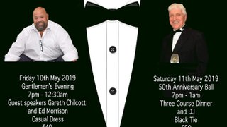 Spaces left for our Gentlemen's Evening