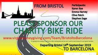 Bristol to Barcelona Charity Bike Ride Fundraiser