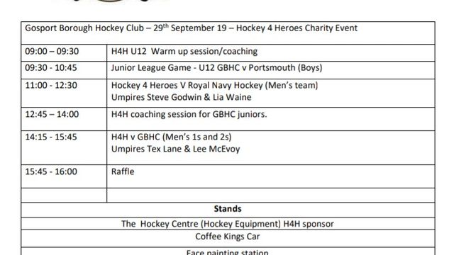 Hockey For Heroes - Charity Event