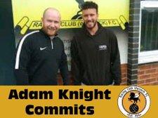 Striker Adam Knight commits