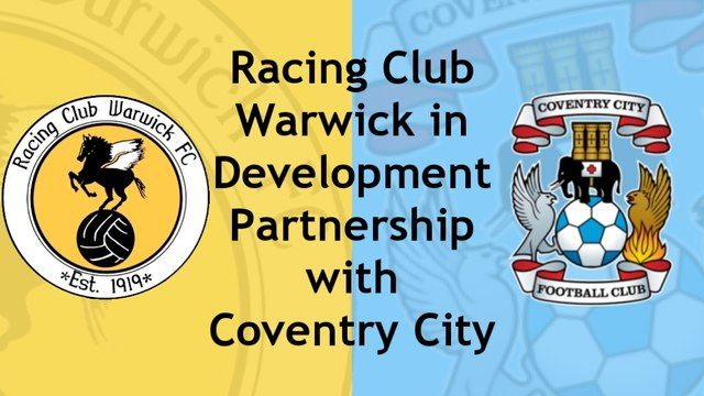 Racing Club Warwick join up in development link with Coventry City FC