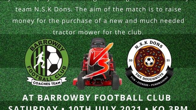 Fundraising Football Match Saturday July 10th 2021
