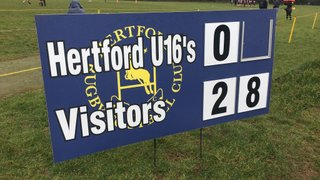 On a wet and windy day Stortford dominate up-front and come out easy winners.