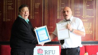 RFU Re-Accreditation Award Presented