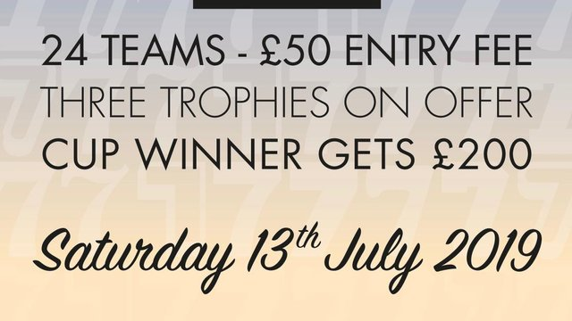 Come and Support the 7s Saturday 13th July