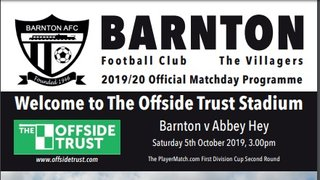 Barnton v Abbey Hey - Preview