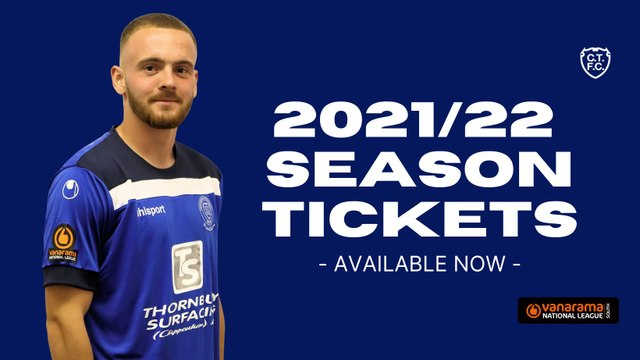 2021/22 Season Tickets, available to purchase today at the Bluebirds Bar!