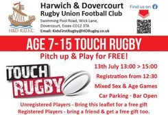 Touch Tournament Age 7-15