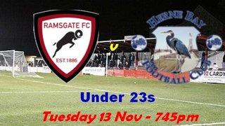 13 Nov: U23s 2-1 Herne Bay