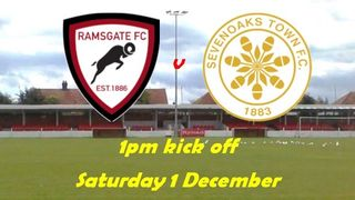 1 Dec: Rams 1 Sevenoaks 3