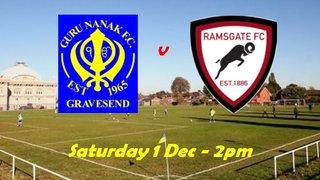 1 Dec: Guru Nanak v Reserves