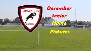 December Senior Home Games