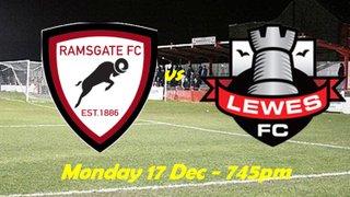17 Dec: Under 23s v Lewes