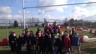 London Broncos come to Mini Bulls training