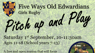 Junior Girls - Pitch up and Play