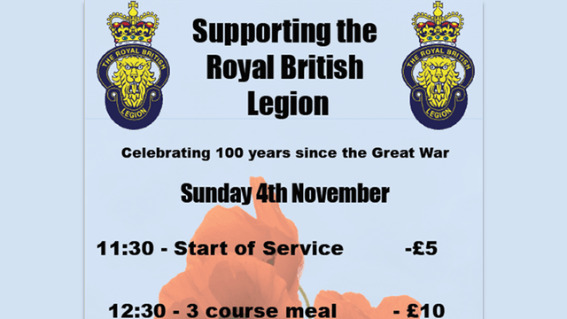 Supporting the Royal British Legion