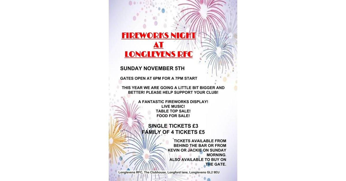 Fireworks Night at Longlevens RFC