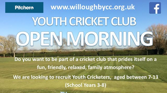 Junior and Youth Cricket Open Morning