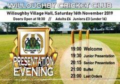 Willoughby Cricket Club Annual Presentation