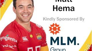 Matt Hema Re-Signs