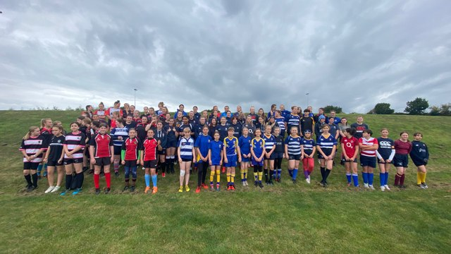 Girls pitch up and play at Chesterfield Panthers Rugby Club