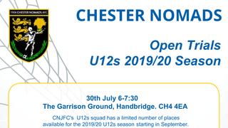 U12s 2019/20 Season Open Trials