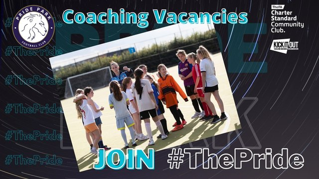 COACHING OPPORTUNITIES AT PRIDE PARK