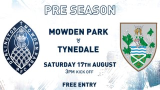 Matchday Information – Tynedale (H)