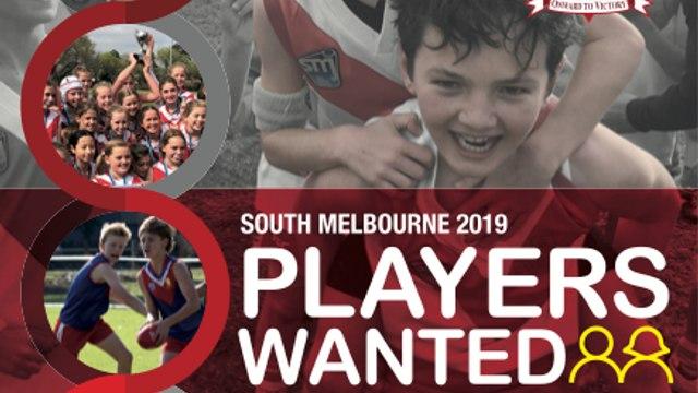 Season 2019 Registrations - Junior Footy