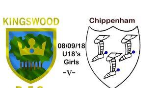 U18's Girls -v-Chippenham RFC 08/09/18