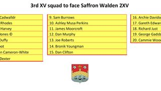 CRUFC Adventurers Squad to face Saffron Walden 2XV